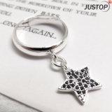 Anillo de la plata esterlina de la fábrica 925 de la joyería del diseñador con el colgante de la estrella