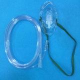 Masque à oxygène médical remplaçable de PVC avec le tube (transparent)