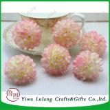 Falsos Daisy flores de seda artificial bricolaje cabezales esféricos Flor de simulación de la decoración del hogar