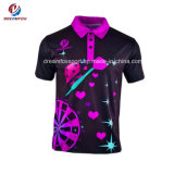 Tee-shirts respirants Golf Custom Sportswear sublimé Polo shirt unisexe Commerce de gros