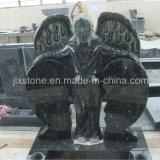 Todos Anjo de pedra de granito polido com lápide do Coração partido