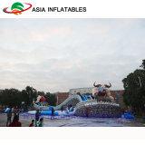 Beweglicher aufblasbarer Kuh-Form-Wasser-Park, aufblasbarer Land-Wasser-Park