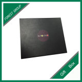 Черная бумажная коробка подарка с оптовой продажей печатание логоса