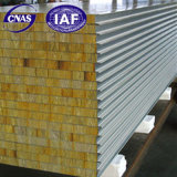 Новые огнеупорные строительного материала минеральной ваты Сэндвич панели для установки на стену