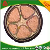 Yjv 0.6/1kv XLPE isolamento do cabo de cobre sólido núcleo sólido encalhados 3X240+2X120sqmm cabo de alimentação