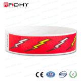 Un Wristband del uso RFID del tiempo en Tyvek para los acontecimientos