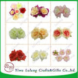 Casamento Decoração de parede de flores artificiais grossista Peony Rose Chefes