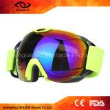 La mejor lente esférica UV400 de la capa con los anteojos de la nieve del esquí de los vidrios de la receta para los hombres y las mujeres