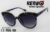 Солнечные очки глаза кота способа с золотистой бровью Kp70265 цепи металла