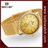 Diamant van de van de Bedrijfs luxe van Belbi het Mannelijke Polshorloge van het Kwarts van het Geval van de Stijl