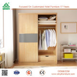 De slaapkamer plaatst Franse Stijl Modern Meubilair de Houten Garderobe van de Schuifdeur
