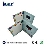 Карточка экрана LCD видео- рекламируя с 2.4 2.8 дюймами