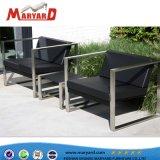 Aluminio y Acero Inoxidable Muebles de Exterior telas sofá con otomana y el cojín