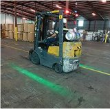 Un seul chariot élévateur à fourche de la Red Zone de ligne de feu d'avertissement de danger laser