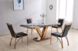 安いレストランの家具の大理石の上のダイニングテーブル