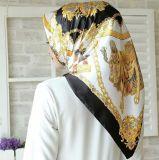 Цифровой Печати шелк хиджаба шелк Саржа Шарфа