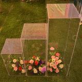 Soportes de visualización de acrílico para los soportes de flor de las piezas centrales