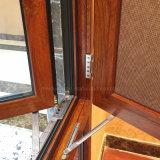 Fenêtre d'ouverture extérieure en aluminium à l'épreuve du vent à l'américaine avec moustiquaire