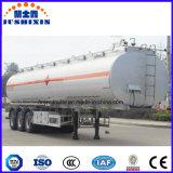 Del petrolero de petróleo de gasolina del depósito del carro acoplado de acero semi