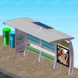 普及した太陽動力を与えられた金属のバス停の避難所