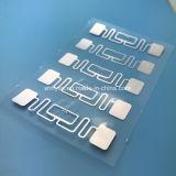 小売りのためのISO18000-6C UCODE 8 UHF RFIDのステッカーの象眼細工