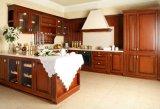 Tranditionalの固体木の食器棚
