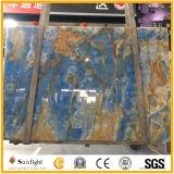 De hete Tegels van het Onyx van het Onyx van de Verkoop Natuurlijke Transparante Populaire Blauwe voor Treden