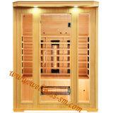 Stanza di sauna di Infrared lontano fatta del Hemlock adatto ad uso della famiglia nel bagno asciutto della stanza da bagno