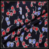 Polyester-nachgemachtes Silk Chiffon- Gewebe mit Wasser-Druck für Schals/China-Polyester-Gewebe