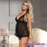Paypal accepté ODM xxx sexy nuisette Noir transparent