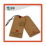 Коричневый крафт-бумаги или переработки джинсы по пошиву одежды повесить Tag оптовая торговля