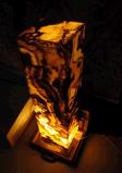 De gouden Doos van de Lamp van het Glas van het Onyx