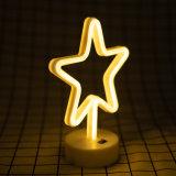En forme de cinq étoiles au néon de lumière (91-TY1833)