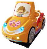 Le coureur de Royal voiture jaune kiddie ride Cartoon Video Machine de jeu