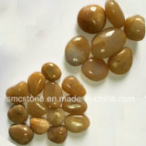Черное естественное отполировало камень Cobble &Pebble (SMC-PB023)