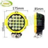 Luz de conducción auto al aire libre de la lámpara LED del CREE amarillo de 7inch 63W