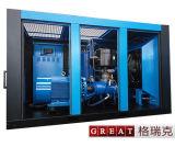 Compresseur d'air rotatoire de vis de rotor de la pression deux de refroidissement à l'air
