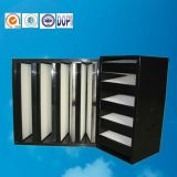 Фильтры крена эффективности v устранимой стеклоткани средств с пластичной рамкой