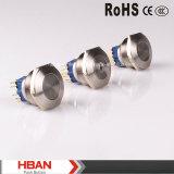 schakelaar van de Drukknop van het Roestvrij staal CE/RoHS van 30mm de Metaal Verlichte