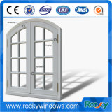 Doppia finestra di vetro lustrata di alluminio con il disegno della griglia