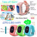 """0.96 """" GPS+Lbs+WiFi H3를 가진 OLED 아이들 GPS 추적자 시계"""
