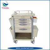 病院の移動式プラスチック医薬品の看護のカート