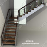Balustrade를 가진 현대 Indoor L Shape Steel Staircase