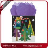 Vacaciones de Navidad de la bolsa de regalo Papel de regalo de papel Papel Bolsa Bolsa de regalo con diseño personalizado