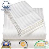 Tela del hotel 100%/casera/del hospital del algodón del lecho con la raya del satén de los 0.5cm/1cm/3cm