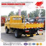 Caminhão dobro da carga da luz da parede lateral do táxi da fileira de Dongfeng 4X2