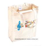 Продукция OEM подгоняла напечатанную логосом выдвиженческую сумку пляжа Tote холстины хлопка