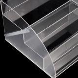 Crémaillère d'étalage cosmétique acrylique transparente de qualité