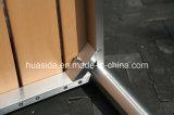 Tabella rotonda di legno del teck del profilato quadro per tubi l'acciaio inossidabile