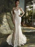 스파게티 레이스 인어 신부 드레스 결혼 예복
